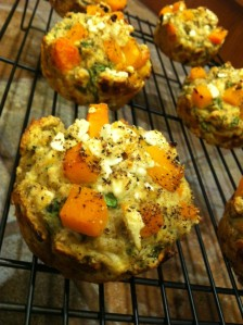 Butternut Muffins on cooling rack