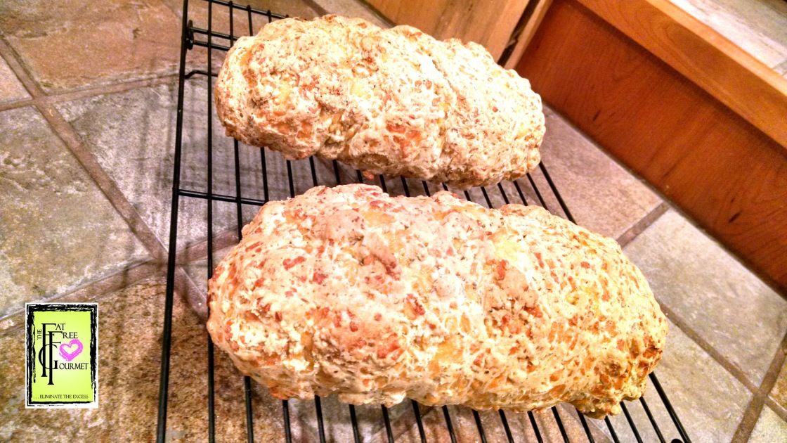 Recipe above is for a single loaf. Pictured here is a double recipe!