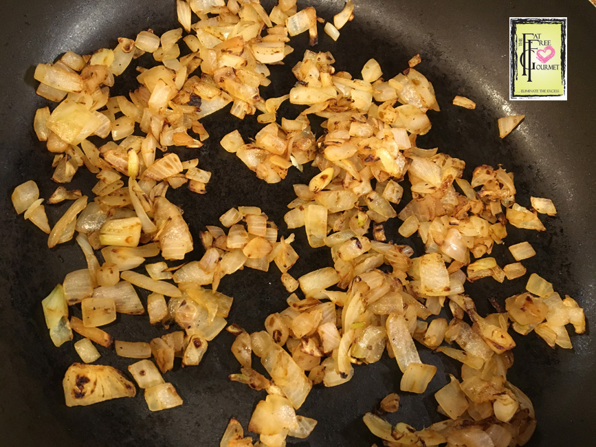 Onions after 15 minutes of cooking.