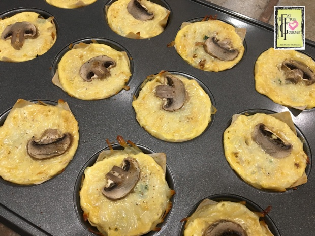 Fat-Free Mini Quiche fresh out of the oven!! Yum!!!